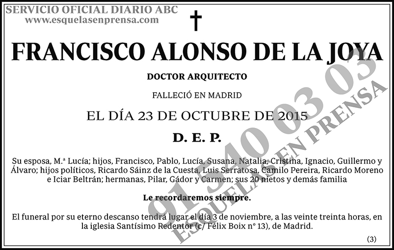 Francisco Alonso de la Joya